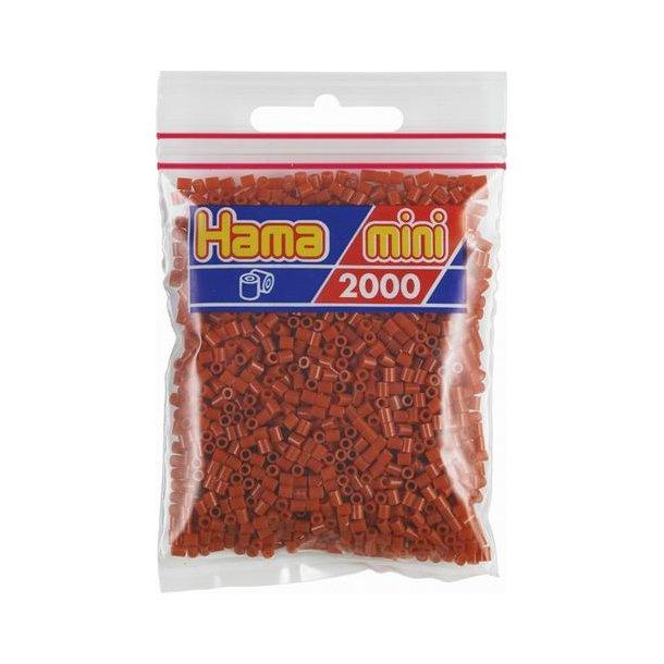 Hama mini perler 501-20 2000 stk. rødbrun