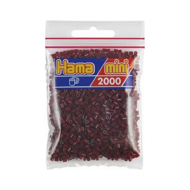 Hama mini perler 501-30 2000 stk. bordeaux
