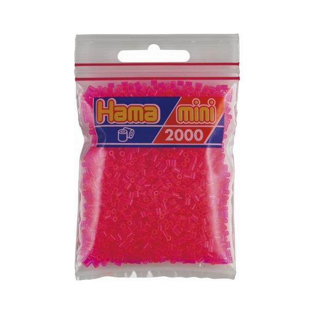 Hama mini perler 501-32 2000 stk. neon fuchsia