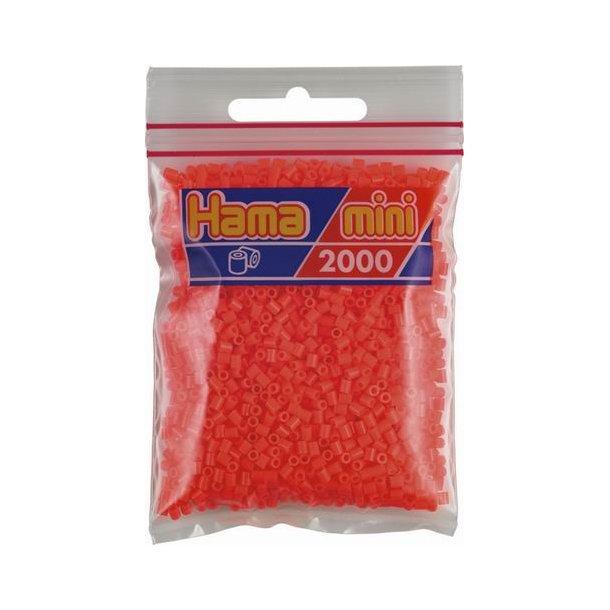 Hama mini perler 501-33 2000 stk. fluorescent cerise