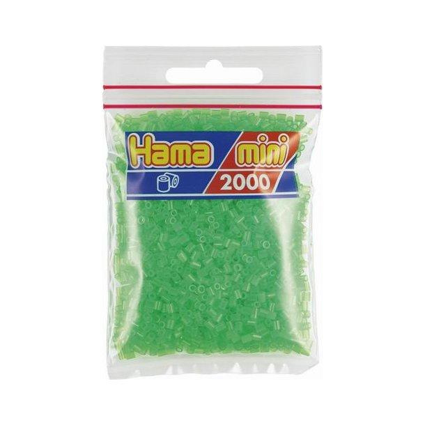Hama mini perler 501-37 2000 stk. neon grøn