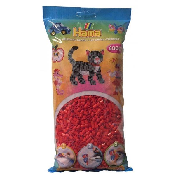 Hama midi perler 205-05 - 6000 stk. rød