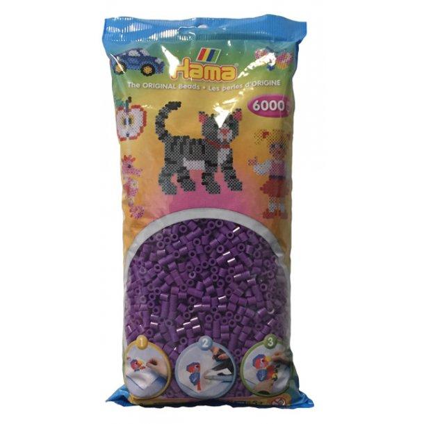 Hama midi perler 205-07 - 6000 stk. lilla