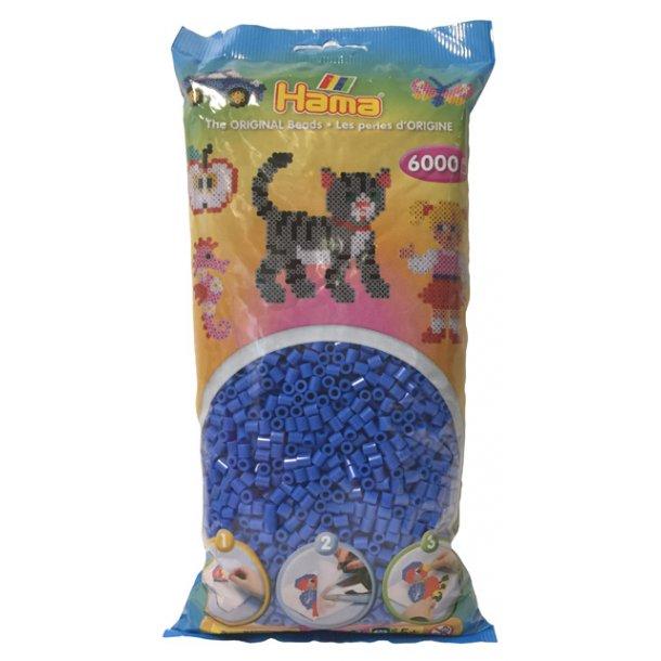 Hama midi perler 205-09 - 6000 stk. lyseblå