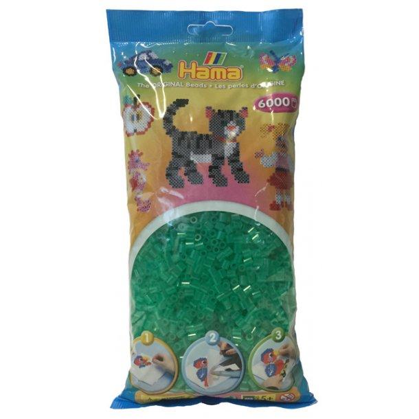 Hama midi perler 205-16 - 6000 stk. transparent grøn