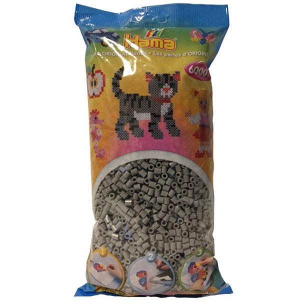 Hama midi perler 205-17 - 6000 stk. grå