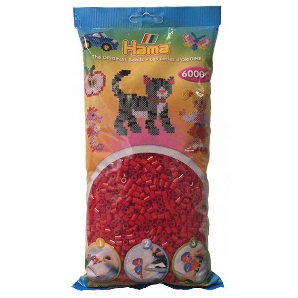 Hama midi perler 205-22 - 6000 stk. julerød
