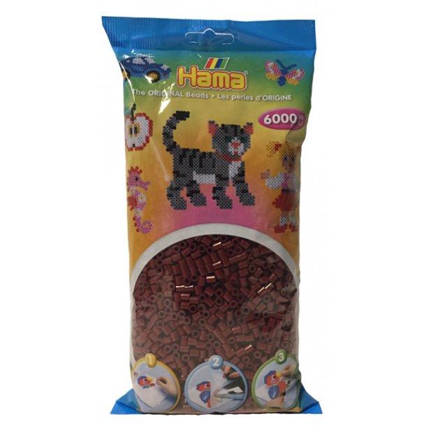 Hama midi perler 205-30 - 6000 stk. rødbrun
