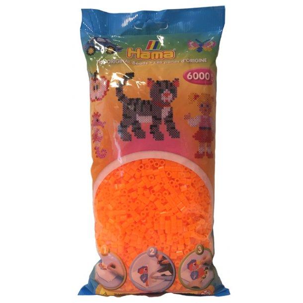 Hama midi perler 205-38 - 6000 stk. neon orange