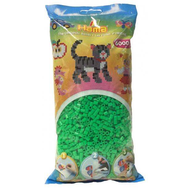 Hama midi perler 205-42 - 6000 stk. fluorescerende grøn