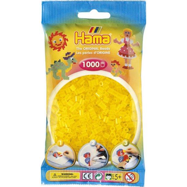 Hama midi perler 207-14 1000 stk. transparent gul