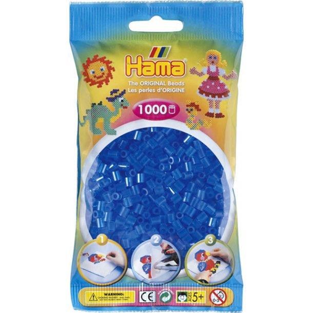 Hama midi perler 207-15 1000 stk. transparent blå