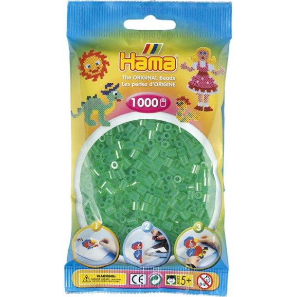 Hama midi perler 207-16 1000 stk. transparent grøn