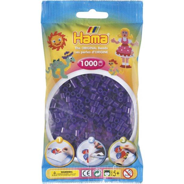 Hama midi perler 207-24 1000 stk. transparent lilla