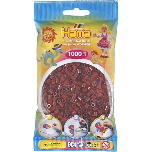 Hama midi perler 207-30 1000 stk. mørkerød