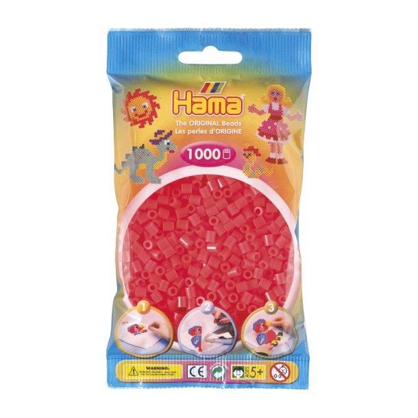 Hama midi perler 207-35 1000 stk. Neon rød