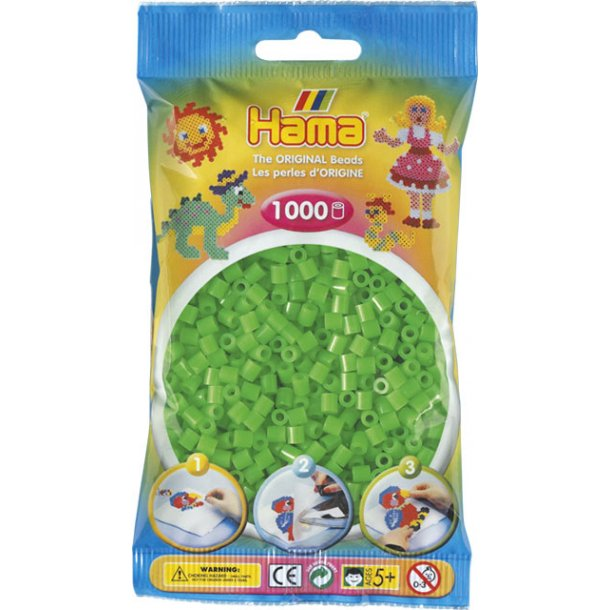 Hama midi perler 207-42 1000 stk. fluorescerende grøn