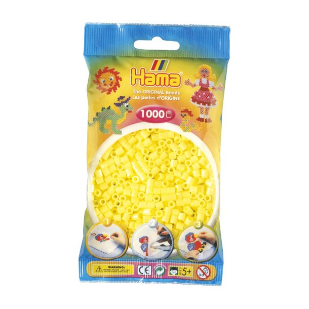 Hama midi perler 207-43 1000 stk. Pastelfarvet gul