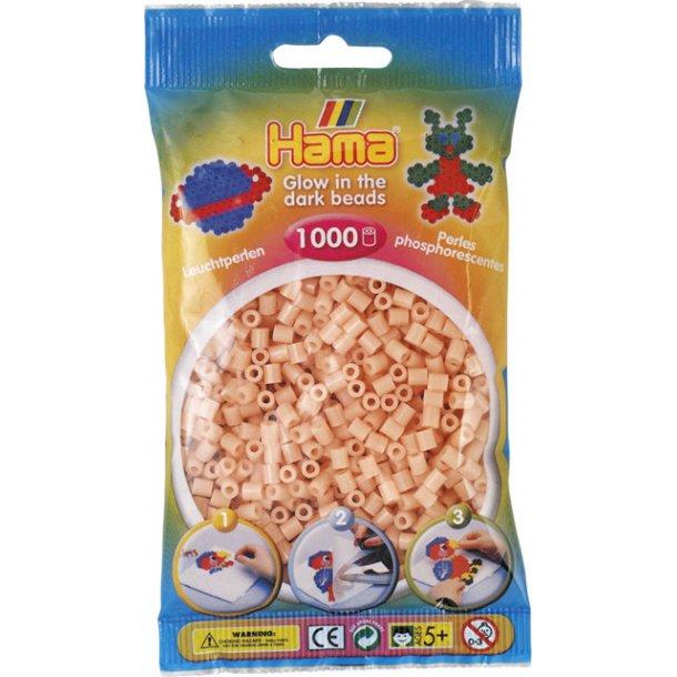 Hama midi perler 207-56 1000 stk. selvlysende rød