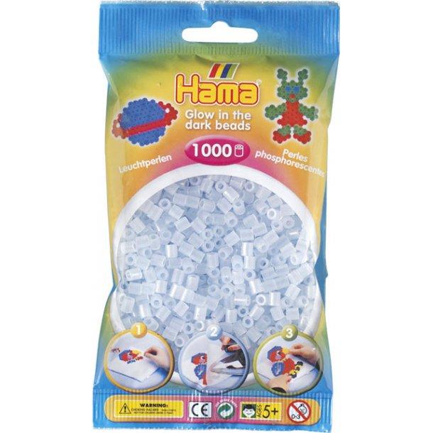 Hama midi perler 207-57 1000 stk. selvlysende blå
