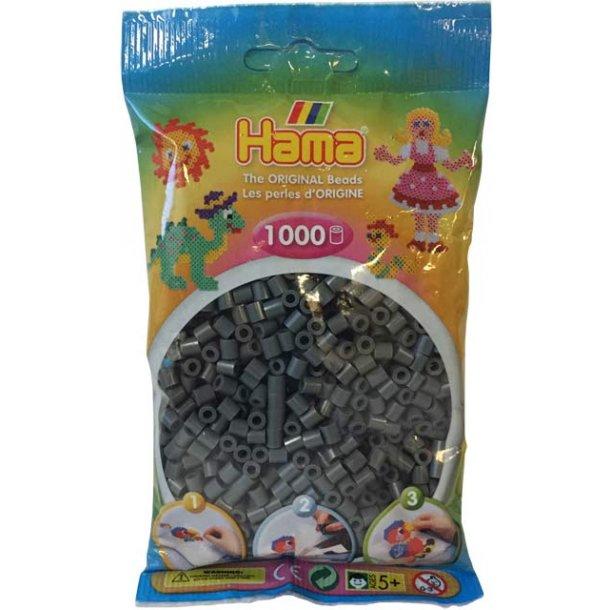 Hama midi perler 207-71 1000 stk. Mørke grå