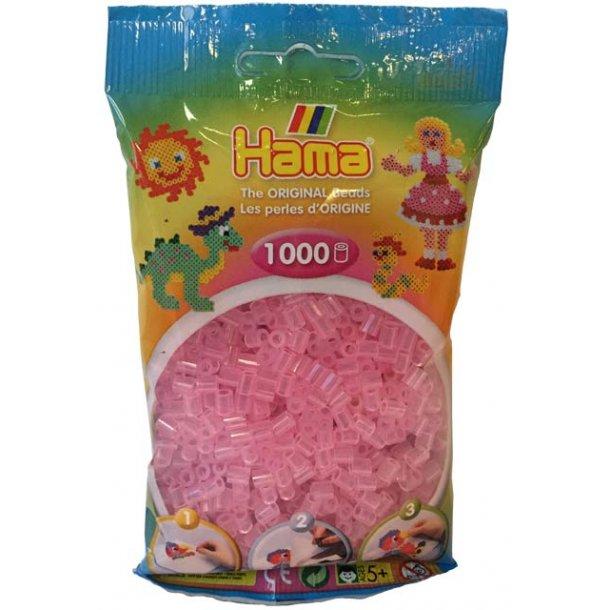 Hama midi perler 207-72 1000 stk. transparent pink
