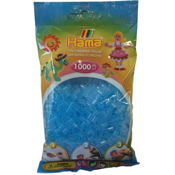 Hama midi perler 207-73 1000 stk. transparent blå