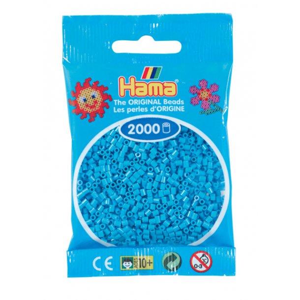 Hama mini perler 501-49 2000 stk. azurblå