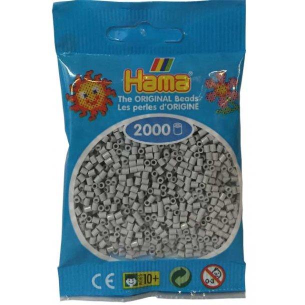 Hama mini perler 501-70 lys grå