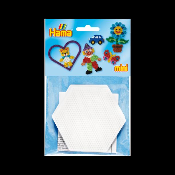 Hama mini perleplade 2 stk. 6-kantede