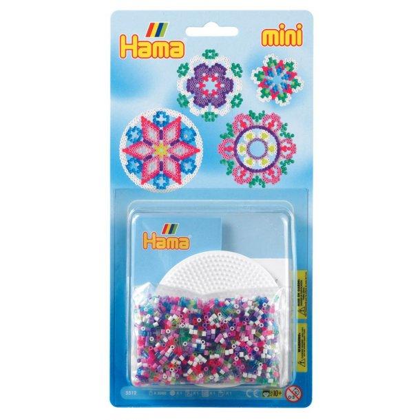 Hama mini perlesæt - blomster