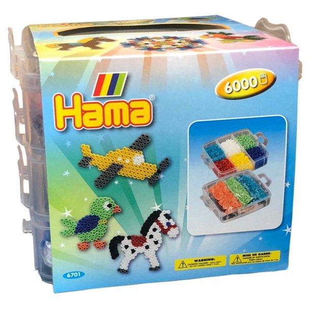 Hama opbevaringsboks med 6000 perler