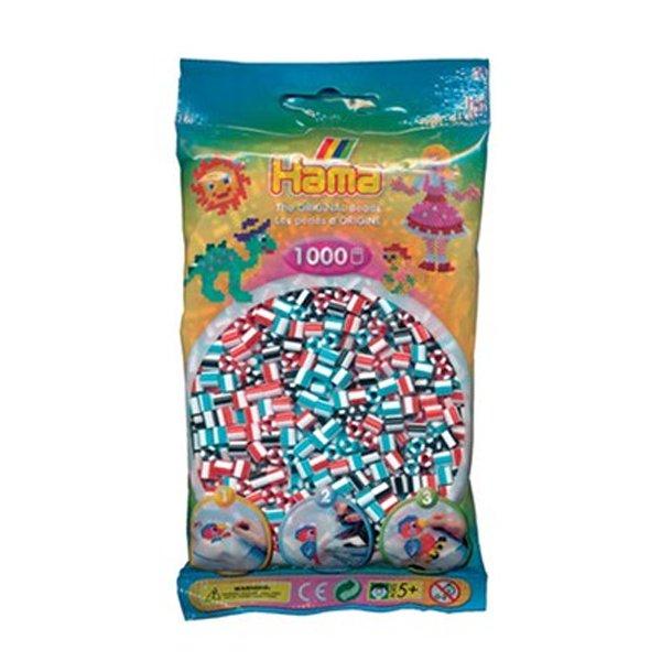 Hama midi perler 207-91 1000 stk. stribet perlemix