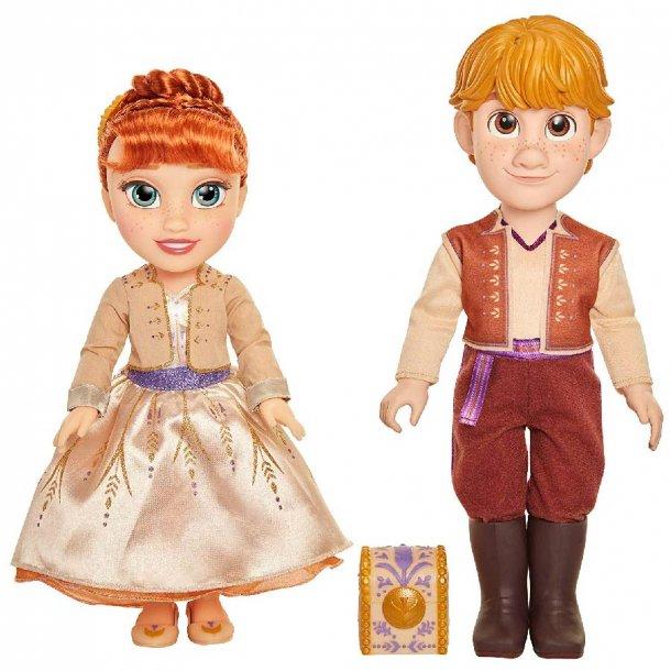 Anna og Kristoff dukkesæt med ring