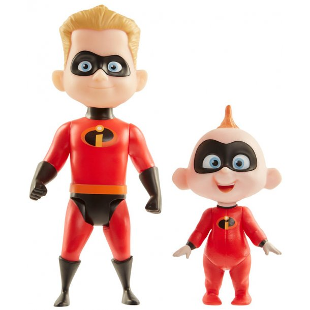 De utrolige 2 figur pakke - Jack-Jack & Dash
