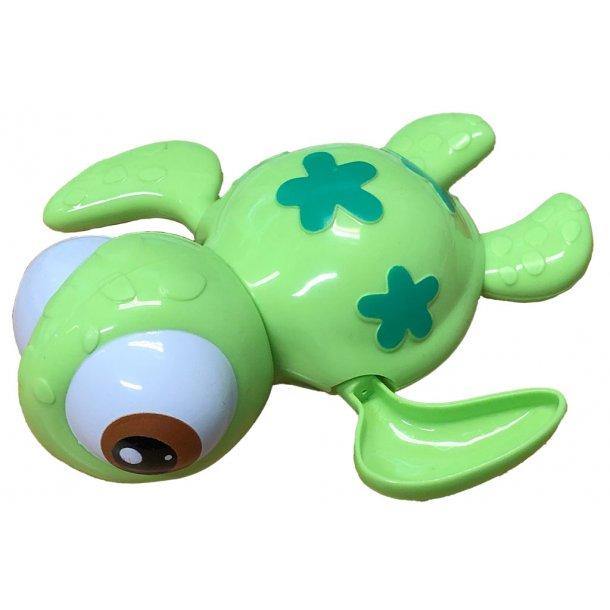 Træk op badedyr - Skildpadde - Grøn