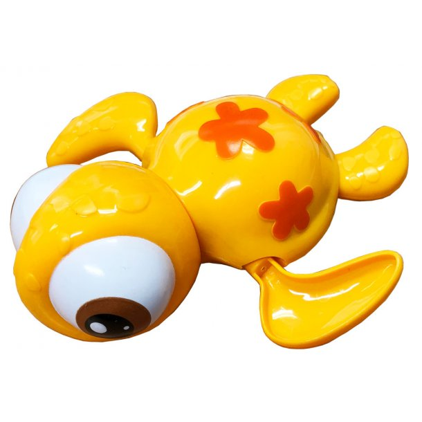 Træk op badedyr - Skildpadde - Gul