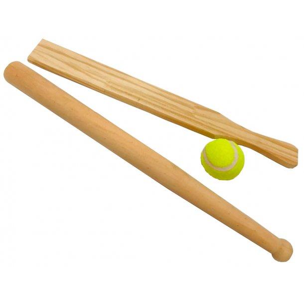 Baseball sæt i træ - 48 cm.
