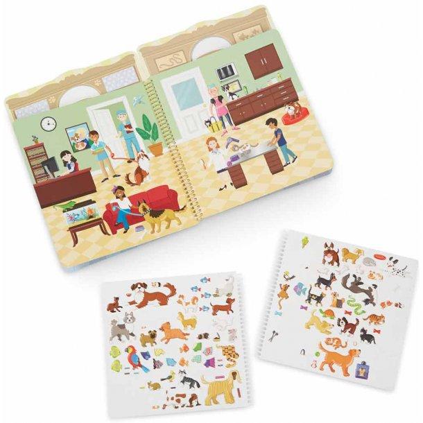 Kæledyr sticker sæt - 115 stickers