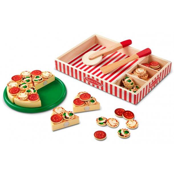 Pizza legemad i træ