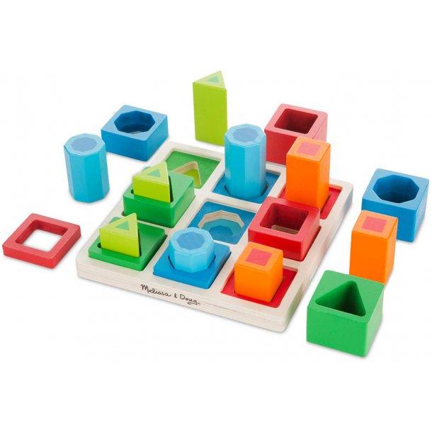 Former og farver sorterings legetøj