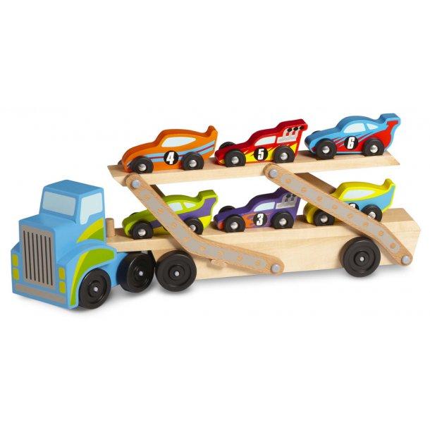 Autotransporter med 6 racerbiler