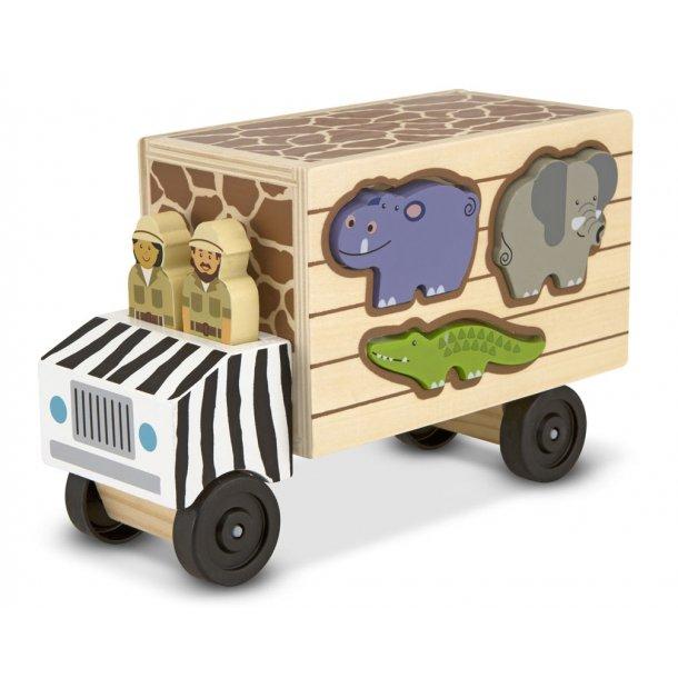 Safari dyretransport i træ