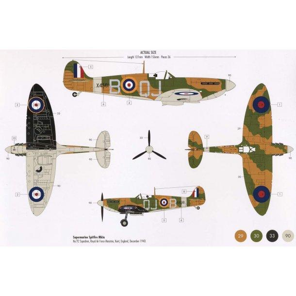 Airfix Spitfire Mk1a 1:72 komplet sæt
