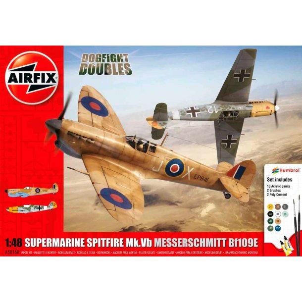 Airfix Spitfire dogfight 1:48 komplet sæt