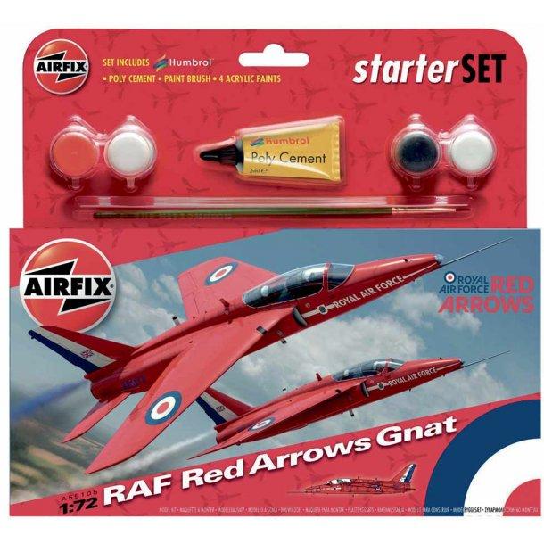 Airfix RAF red arrows gnat 1:72 komplet sæt
