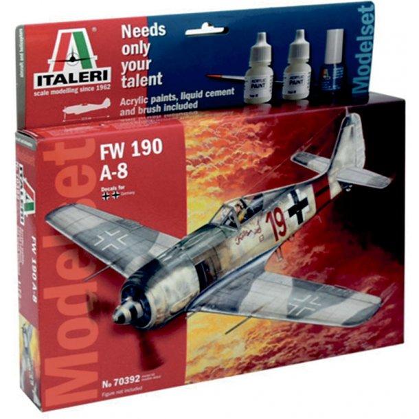 Italeri FW 190 A-8 kampfly - 1:72 komplet sæt