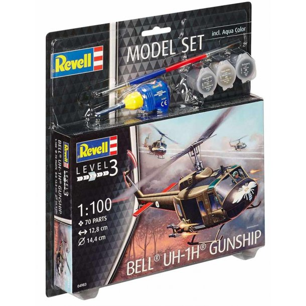 Bell® UH-1H® Gunship - scala 1:100 kompletsæt