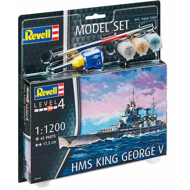 Revell krigsskibet King george V - scala 1:1200 kompletsæt