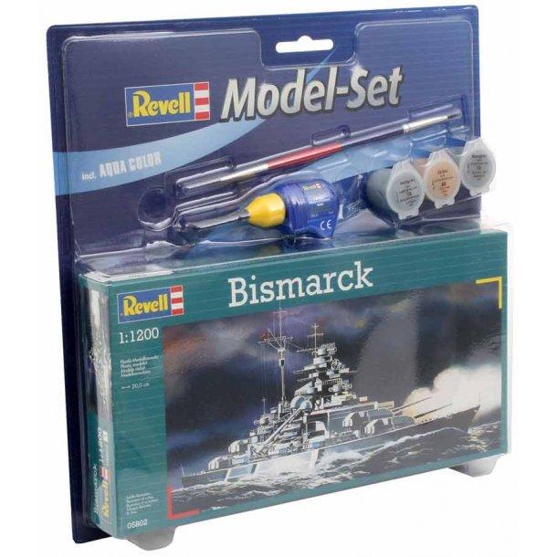 Revell krigsskibet Bismarck - scala 1:1200 kompletsæt